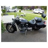 Yamaha V Star 1300 Motorcycle with Vance & Hines exhaust pipes