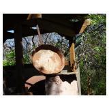 huge cast iron pan