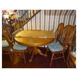 6 chair 1 leaf dining table