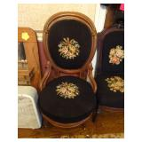 antique embroidered chairs