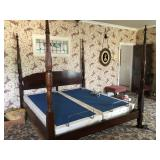 american drew co 4 post king bed- adj bae not for sale
