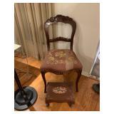 antique chair/ottoman