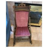 antique folding rocker $85