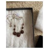 garnet 925 necklace