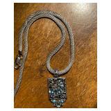 925 amethyst topaz necklace