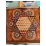 Leather Chinese checkers board & leather chess board