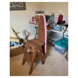 3 in 1 Wooden ironing board/step ladder/Bachelor chair