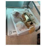 towle gold plate tea set