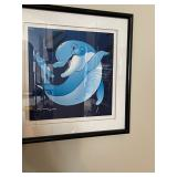 Wyland art caricature dolphin