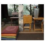 WVT015 Four Wooden TV Tables, Bar Chair,  Wall Hanging and More!