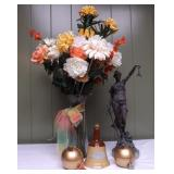 WVT024 Vintage Bronze and Beautiful Flowers