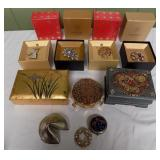 WVT089 Monet Brooches and Jewelry Boxes