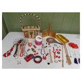 WVT108 Vintage Bag, Costume Jewelry and More!