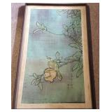 WVT180 Bird with Pomegranate Batik Painting Signed by Artist