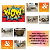 Ampersand Furniture Liquidation Estate Sale in Chicago, IL. Aug 7 & 8, 2021