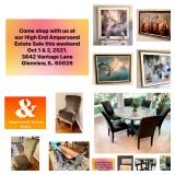 Ampersand High End Estate Sale Glenview, IL Oct. 1 & 2, 2021