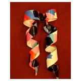 COLLECTION OF DOROTHY GILLESPIE METAL RIBBON WALL SCULPTURES