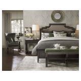 BASSETT 4 PIECE QUEEN BEDROOM SET, EMPORIUM COLLECTION WITH BED, 2 NIGHTSTANDS, DRESSER