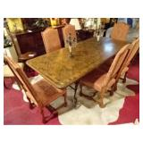 ITALIANATE 7 PC DINING TABLE WITH 6 CHAIRS - IMMACULATE