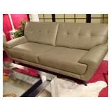 MODERN DESIGN TAUPE LEATHER SOFA, 2 MATCHING AVAILABLE SEPARATELY