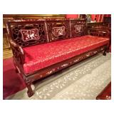 CHINESE ROSEWOOD AND MOTHER OF PEARL SOFA