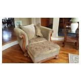 family room chair with ottoman