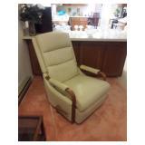 Leather recliner by La-Z-Boy