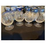Waterford Lismore Crystal Brandy Glasses