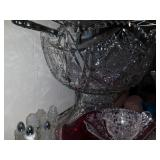 cut glass crystal punch bowl