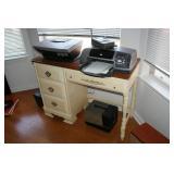 desk and printers