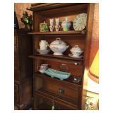 Antique Five-Shelf Library Bookcase