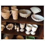Large Antique Milk Glass Collection