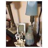 Blue/ Frosted Southern Belle Dresser / Vanity Lamp