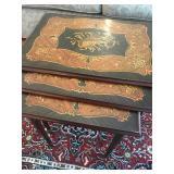 Antique Nesting Tables, Italian Inlaid