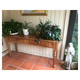 Antique Pine Narrow Table