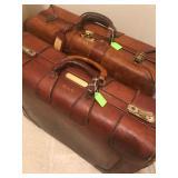 Vintage Leather Suit Cases