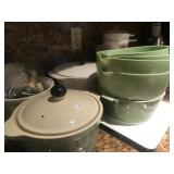 Green Mixing Bowls, Covered Cassarole Dishes