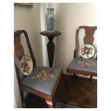 Antique Needle Point Side Chairs