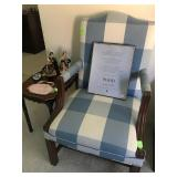 Blue and White Side Chair
