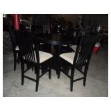 Round Pub Table w/6 chairs & leaf
