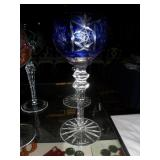 Bohemian Color Cut to Clear Crystal wine glasses