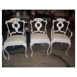 8 Vintage cast iron chairs