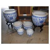 Blue & White pots