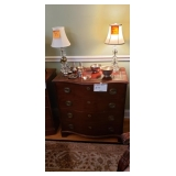 ANTIQUE MAHOGANY SILVERWARE CHEST...$175