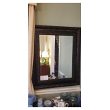 "WOOD BEVELED MIRROR...30"" x 58""...$175"