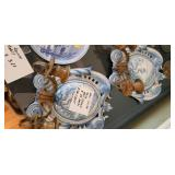 BLUE TOILE WALL SCONCES...$65 EACH...$100 FOR PAIR