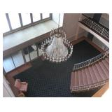 Chandellier Not for Sale, part of foyer, shows elegance of this complex
