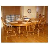 solid oak dinette table and chairs