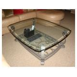 glass and metal table