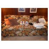 Sofa, Pillows, & Linens